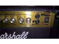 Marshall MG15DFX amplifier for sale