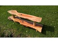 Beautiful Yew wood shelving/shoe/boot rack for sale