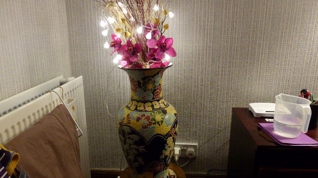 Giant Vases .One with LED lighting flowers