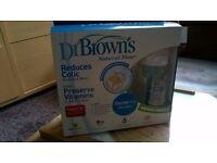 NEW - Bottles Dr. Browns + travel bottle & food warmer