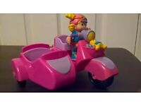 Fisher price little people motor bike and sidecar baby toy