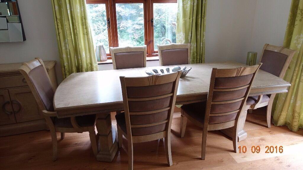 Furniture village 39 brunswick 39 dining extending table for Furniture village sale