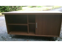 TV stand with storage.