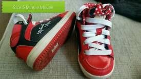 Minnie Mouse trainers size 5