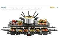 BRAND NEW...Raclette 12 person set.... vonchef