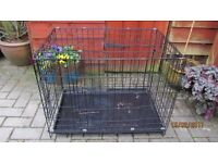 DOG CAGE WITH TRAY