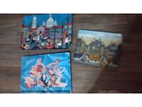 3 vintage retro trays ZUZANA CHALUPOVA.Michel Delacroixy