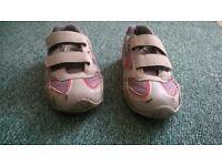 boys grey trainers velcro fastening size UK 12 junior