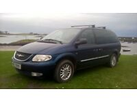 Chrysler Grand Voyager Limited 2.5 Diesel, 40mpg, seven seater, MPV, Estate Mot to 28th October 2017