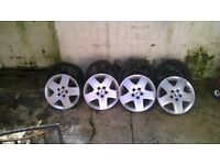 ford 5 stud steal rims for mk2.5 focus with trims