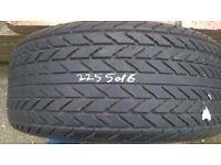 Pirelli Cinturato P7 225/50/16 vr part worn