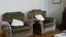 Comfy green armchairs to sell,in very good condition. His and Hers, £85