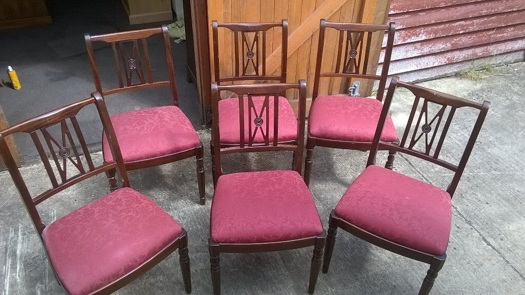 Dining chairs x 6in Diss, NorfolkGumtree - Dining chairs x 6 in good used condition, viewing and collection from Diss or delivery possible please ask