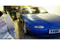 Mazda Mx5 project 1.6 not Eunos.. 78k giveaway price £500 no offers at this price. Needs MOT