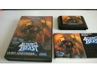 SEGA MEGA DRIVE 'ALTERED BEAST' GAME- USED - IN CASE/INSTRUCTION MANUAL