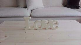Ceramic Love Sign
