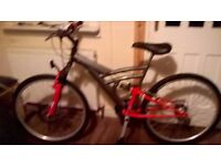 ADULT LADIES OR GENTS MOUNTAIN BIKE NEW CONDITION ONLY USED 5 OR 6 TIMES