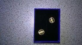 Gold Maltese Cross earrings