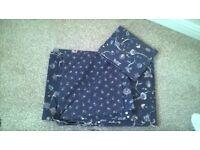 Single bedding sets x 3 (£3 each )Blue floral/plain blue reversible/aztec design