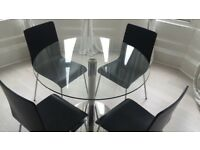 John Lewis enzo glass dining table