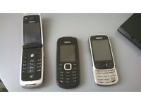 Second Hand Nokia 6303/6303/1661/6600 Fold Phones CAN POST/DELIVER
