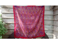 Ladies hip/neck/head scarf/shawl. 75cm x 78cm, excellent condition, used couple of times
