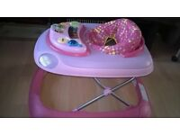 BEAUTIFUL PINK BABY WALKER AS NEW CONDITION