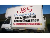 Removals, Man and Van, House clearance, Courier Service Etc