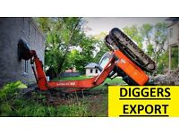 DIGGERS - JCB HITACHI AND MORE WANT£D/REQUIRED FOR EXPORT MARKET!!!