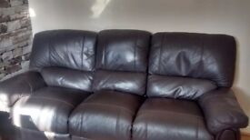 Can deliver Harvey's chocolate brown 3 seater recliner in good condition