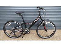 CHILDS GIANT MTX. QUALITY LIGHTWEIGHT ALUMINIUM BIKE, IMACULATE ALMOST NEW CONDITION (SUIT AGE. 9+).