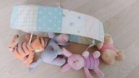 Large bundle of classic winnie the pooh nursery accessories