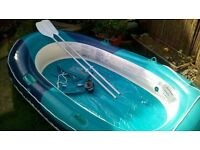 new inflatable dinghy,crivit beach 2man2child with oar's and pump £35