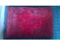 LUXURY RED THROW