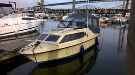 Shetland Black Hawk 19' Fast Fisher / Overnighter with a 60HP Yamaha 4 Stroke (94hrs) running