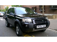 LAND ROVER FREE LANDER 2.0 TD4 ADVENTURER 4X4 2005 55 REG BLACK 5 DOORS 5 SPEED MANUAL PAS A/C 147K