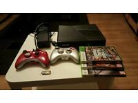 Xbox360 slim no hardrive 2TB usb 2 controller 3 game