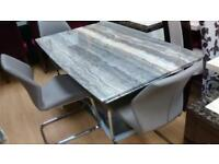 Stone dining table and 4 chairs