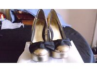 ladies gold shoes