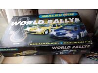 scalextric world rallye two spare cars and extra track