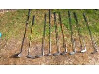 Random set of golf clubs
