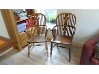 Windsor chairs (pair) cica 1850 to 1900.