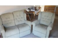 Small Sofa and Matching Chair - Light Green - Quality