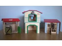 Set of horse stable- toys