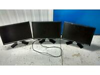 3 dell monitors removed from office