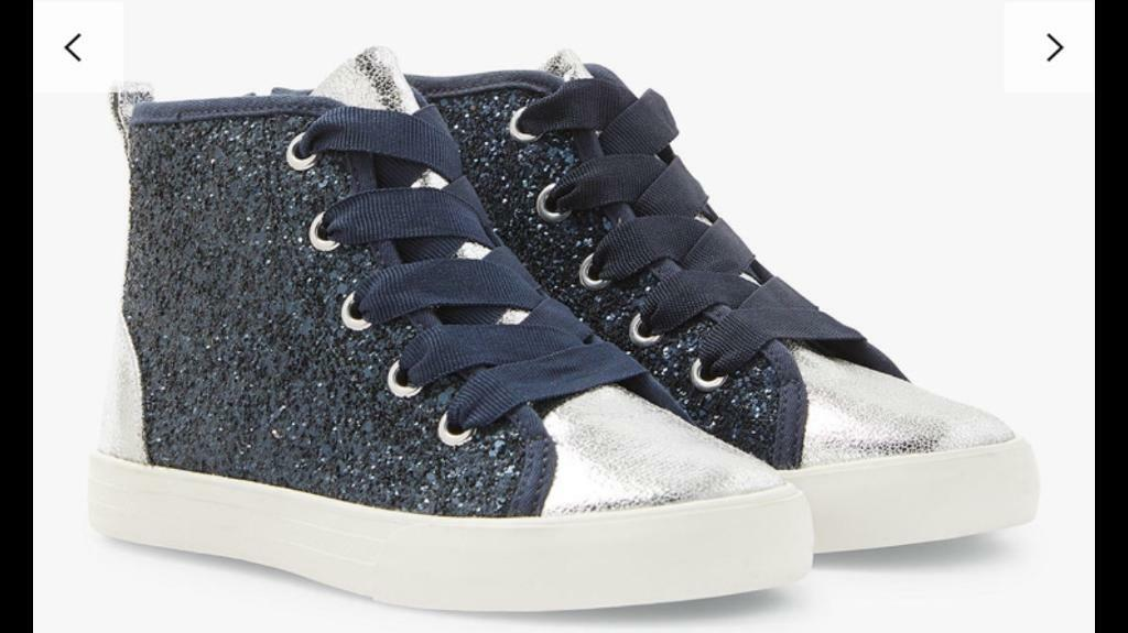 6e640a82cd7b John Lewis   Partners Children s Lulu Glitter High Rise Trainers