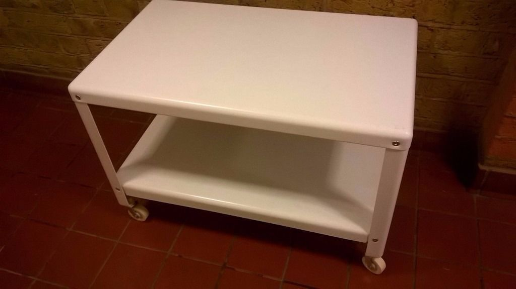 Ikea Ps2017 Metal Coffee Table On Wheels 40 New Perfect Central London Bargain