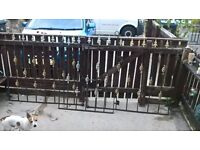 wrought iron double gates and single gate