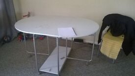 Foldable dining table, 2 Chairs, Study table, Table lamp