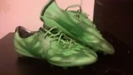 Green Adidas Adizero F50 Football boots ( size 6 and a Half)